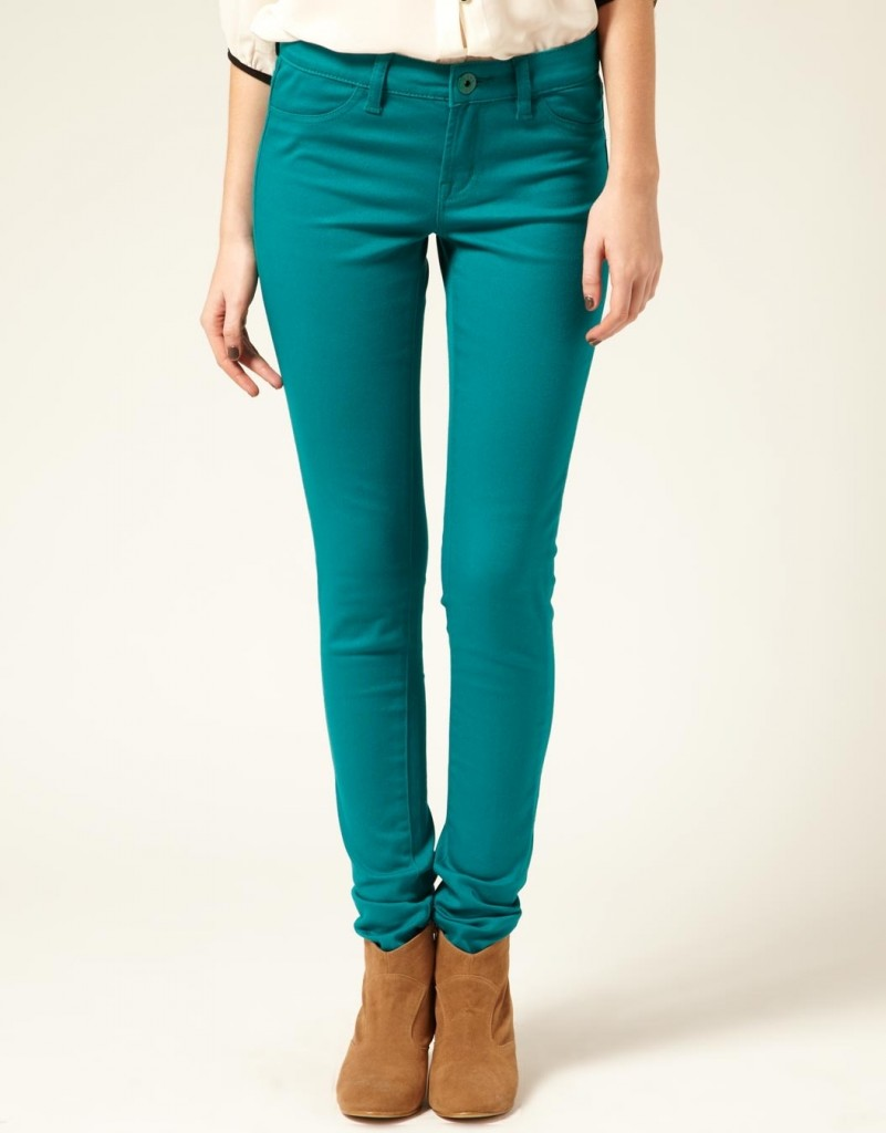 Coloured Skinny Jeans - Jeans Am