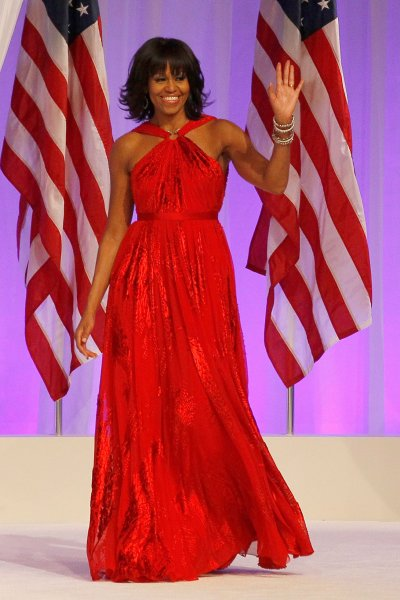 FIRST LOOK: Michelle Obama in red Jason Wu dress for